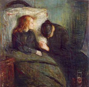 Flicka sjuk