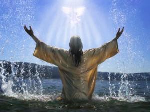 Jesu dop i vatten och med helig ande.